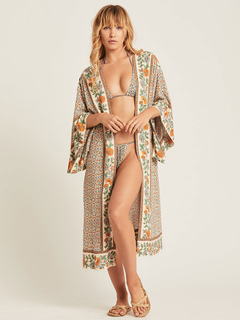 482add9271db0 Women Cover Up Cotton Floral Print Clothes Flowers Plunging Neckline Summer  Beach Swimwear