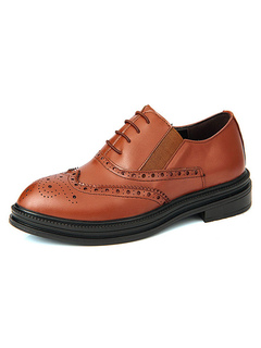 Milanoo / Man's Dress Shoes Modern Almond Toe Lace Up PU Leather Men's Oxfords