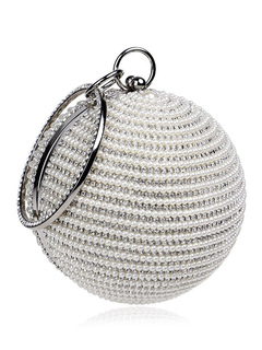 Milanoo / Party Handbags Faux Leather Rhinestones Artwork Kiss Lock Closure Wedding Handbag