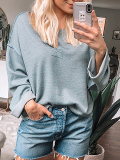 Milanoo / Women Pullover Sweater White V Neck Long Sleeves Sweaters