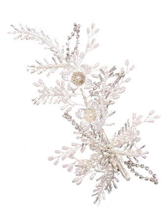 Milanoo / Headpieces Wedding Headwear Pearl Flower Metal Bridal Hair Accessories