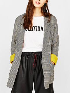 Milanoo / Blazer Modern V-Neck Long Sleeves Polyester Blazer For Women
