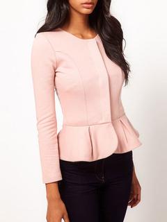 Milanoo / Blazer For Women Modern Polyester Jewel Neck Long Sleeves Blazer