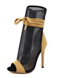 """Milanoo / Women's Summer Boots 4.5"""" Stiletto Heel Peep Toe Boots"""