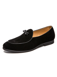 Milanoo / Mens Suede Loafer Shoes