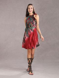 6016cd7f558cd رومانسية بيربل قلد الحرير بلا أكمام فستان المرأة2019