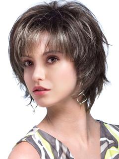 86ec2a7244fd Parrucca corta in fibra di vetro resistente al calore naturale per donna