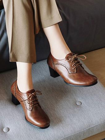 Nouveau Femme Bout Rond Et Talon Talons Hauts Mary Jane Oxford Richelieu à plateforme chaussures escarpins