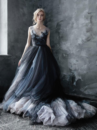 colored wedding gowns