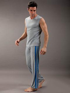 9fb57df74f Cool colore grigio pigiama poliestere senza maniche uomo di blocco