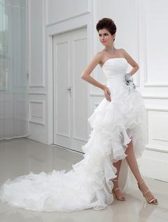Hochzeitskleid kurz tragerlos