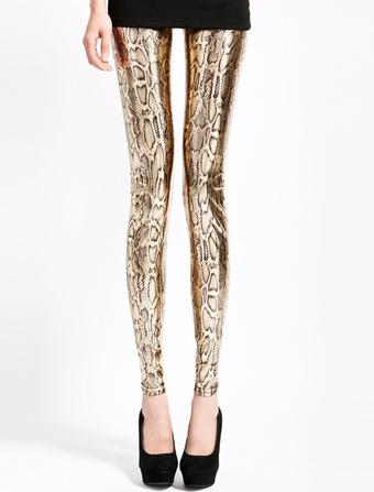 Snake Print Spandex Leggings