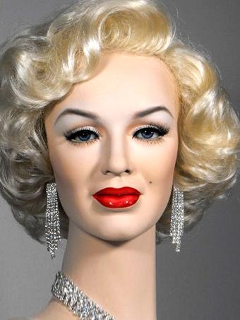 Marilyn Monroe Wig Curly Short Silver Women Carnival Wig