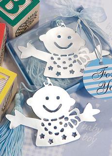 Baby Design Bookmark Favors - Blue