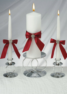 Red Allure Unity Candle Set