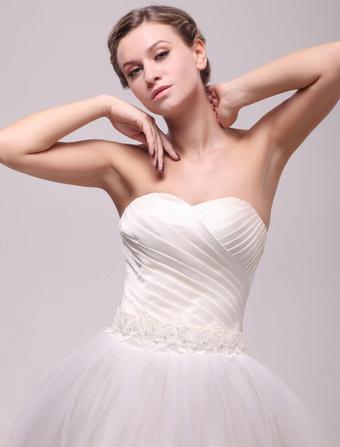 Pretty Ivory Shiny Applique Medium Bridal Wedding Sash