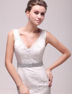 Gorgeous Sparkling White Rhinestone Wide Bridal Wedding Sash