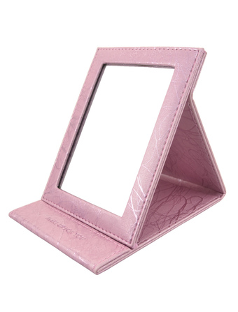 Portable Makeup Mirror Tripod Notebook Magnifying Pink Table Mirror