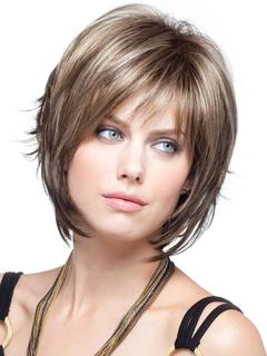 Women Synthetic Wig Wavy Bouncy Fringe Short Flaxen Women Wig