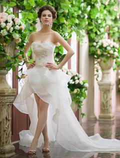 Ivory A-line Sweetheart Neck Beach Wedding Dress Milanoo