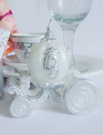 White 4-Piece Carriage Wax Candle Favors