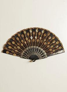 4-Piece Sequined Peacock Pattern Wedding Fan