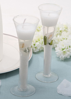 Glamorous Glass Candle Favors for Wedding