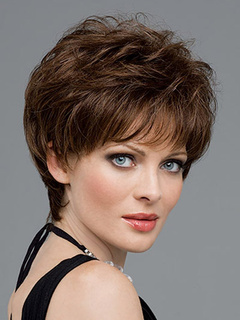 Brown Heat-resistant Fiber Curly Fashion Short Wig For Women