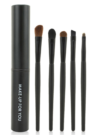 Modern Black 5 Colors Easily Applied Makeup Brush Sets