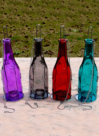 Bottle Pattern Metal Glass Candle Favors
