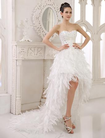 Robe de mariee courte et fluide