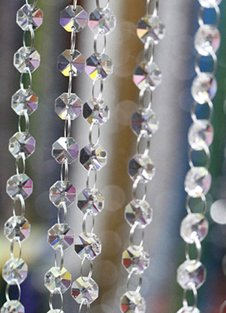 Transparent Romantic Wedding Beading Decorations