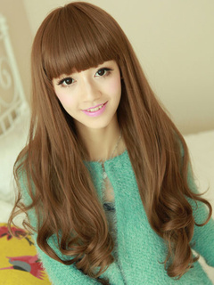 Traditional Flaxen Heat-resistant Fiber Curls at Ends Chic Long Wig