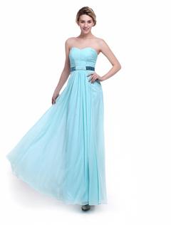 Mint Green Bridesmaid Dress Sweetheart Ruched Chiffon A Line Floor Length Wedding Party Dress Milanoo