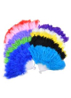 Elegant Feather Plastic Teen 3-Piece Fans for Wedding