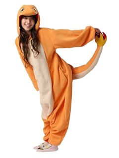 d778ee8b5d Kigurumi Pajamas 2019 Pokemon Charmander Onesie For Adult Fleece Flannel  Costume Halloween