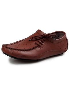 7f0fa93dc جلد البقر البنى الخفيفة المريحة قطع الرباط حتى أحذية رجالية الكسول