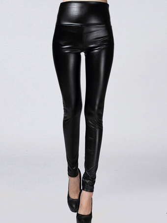 PU Leather Soft Womans Leggings