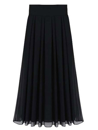 Pleated Long Chiffon Vintage Skirt For Women