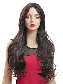 Chestnut Brown Full-Volume Curls Heat-resistant Fiber Chic Long Wig