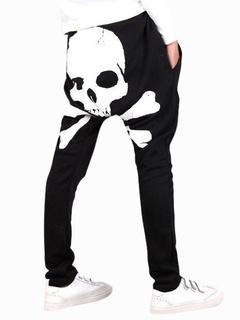 Daily Skull Pattern Cotton Cool Harem Men's Pants