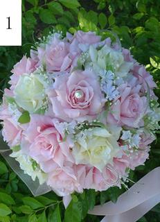 Pretty Silk Round Shape Flowers for Wedding
