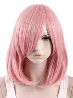 Shoulder Length Curls At Ends Heat-resistant Fiber Medium Carnival wig For Woman