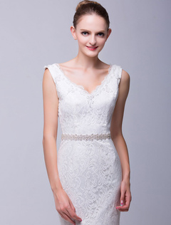 Rhinestone Medium Wedding Sash For Bride