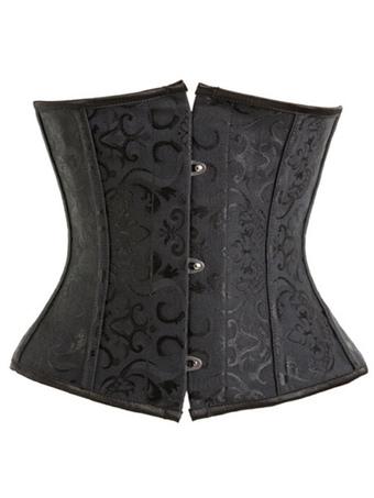 Black Jacquard Corsets