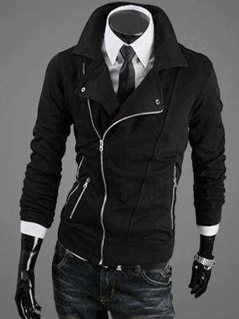 Jacket with Asymmetrical Zipper