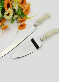 Personalized Cake Knife & Server Set for Wedding
