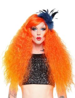Corkscrew Curls Long Carnival wig