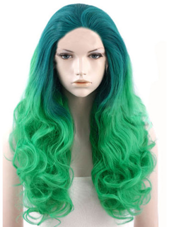 Sexy Split Color Curly Long Carnival wig
