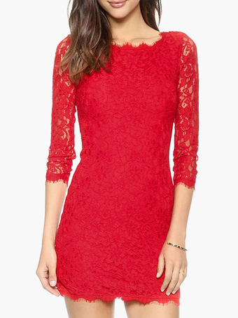 Party Dress With Lace Trim
